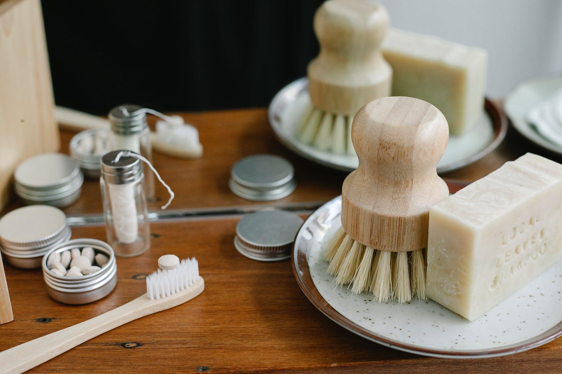 toothbrush neat body shrub and soap